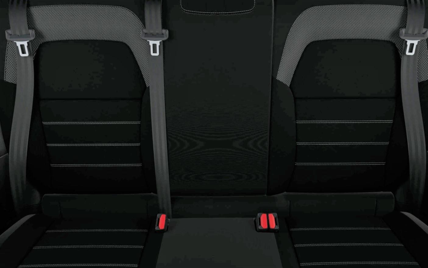Musta värvi tekstiilpolster, külgedel geomeetrilised mustrid