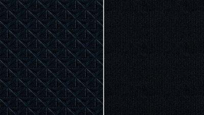 Musta värvi, osaliselt reljeefne, tumehallide elementidega kangas