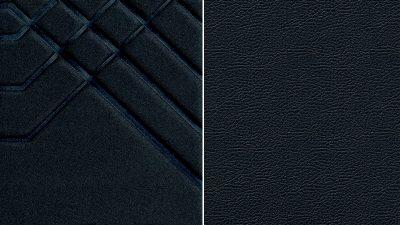 Musta värvi, osaliselt reljeefne, kunstnahast elementidega kangas