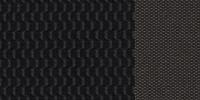 Темная отделка сидений из текстиля