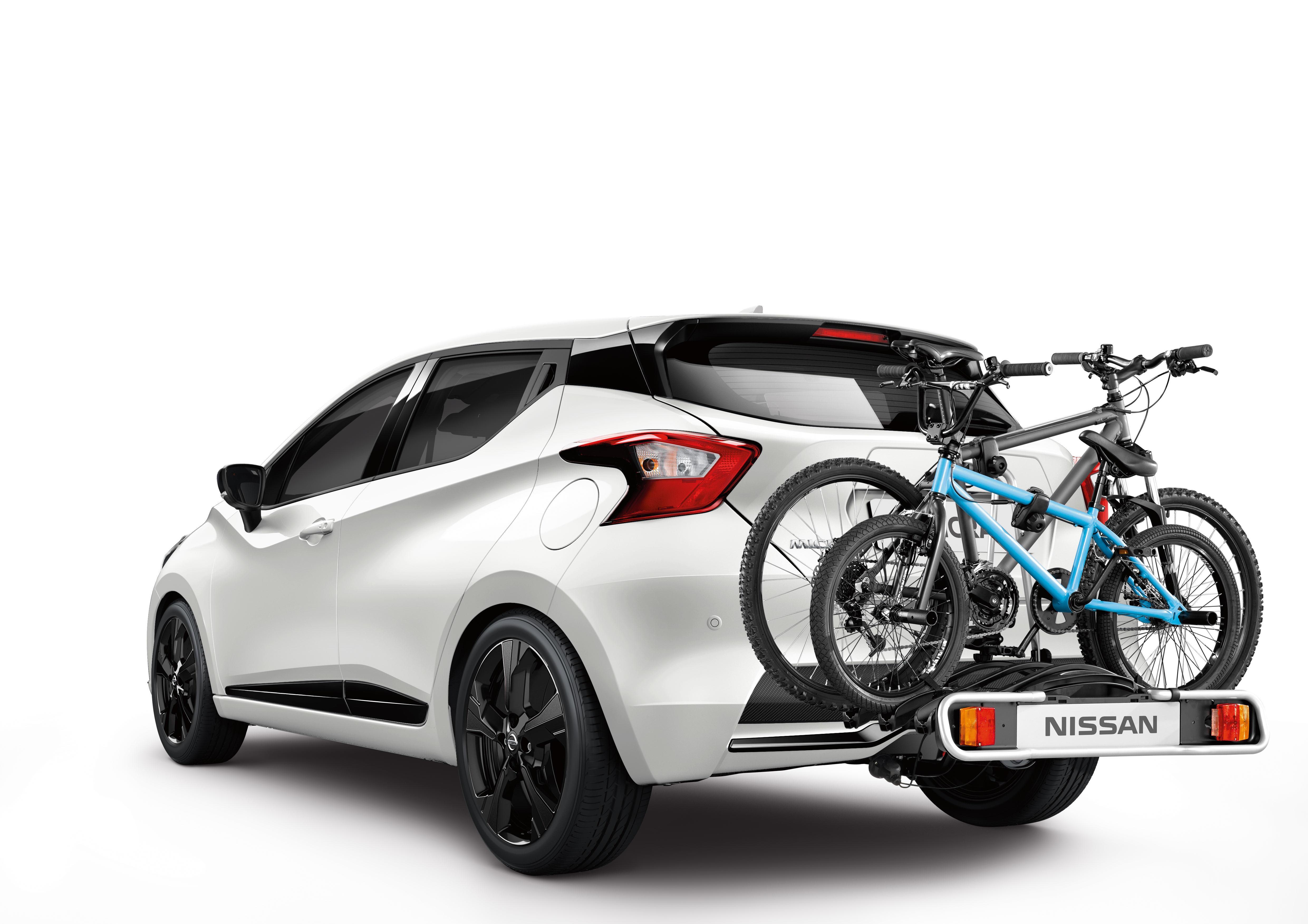 Uz sakabes āķa stiprināms velosipēdu turētājs, salokāms, 13 tapu, 2 velosipēdiem (Euroride)