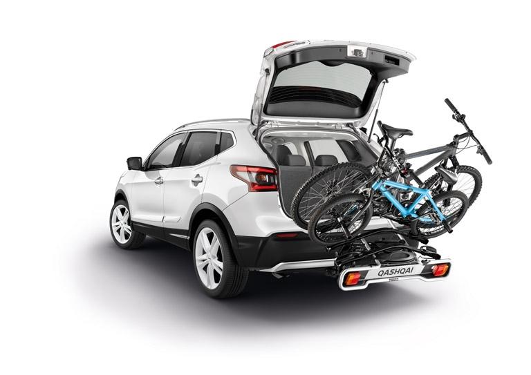 Uz sakabes āķa stiprināms velosipēdu turētājs, salokāms, 13 tapu, 3 velosipēdiem (Euroway G2)