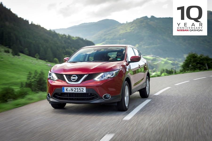 No 2007. līdz 2017. gadam – Nissan Qashqai atzīmē 10 krosoveru līderības gadus