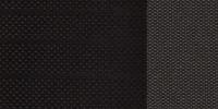 Monoformos priekinės sėdynės su tekstile, juodos