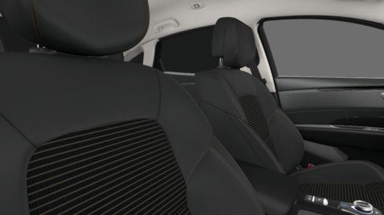 Тканевая обивка сидений со вставками из эко-кожи