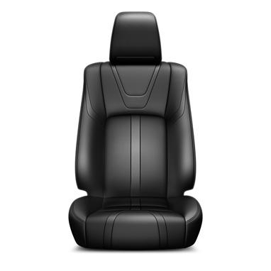 Musta värvi nahast istmekatted ja nahkkattega käetugi