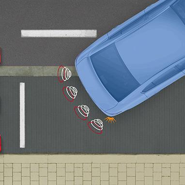 Система помощи при парковке, задняя
