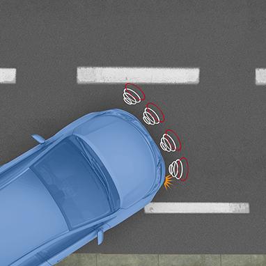 Система помощи при парковке, передняя