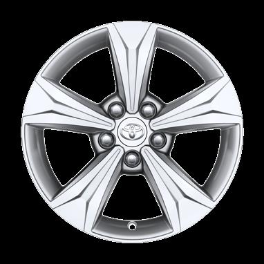 Серебристо крашенные легкосплавные диски 17