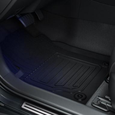 Резиновые коврики, полный комплект для автомобиля с левосторонним управлением
