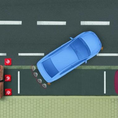 Toyota система помощи при парковке, задняя