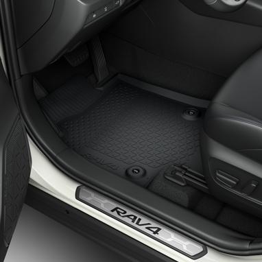 Guminiai grindų kilimėliai (įprastiems automobilaims su MT, visas komplektas)
