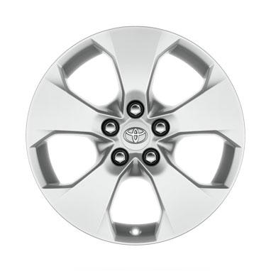 17 colių blizgios sidabro spalvos lengvojo lydinio ratlankiai