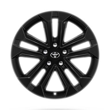 18 colių blizgios juodos spalvos lengvojo lydinio ratlankiai