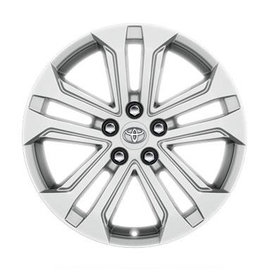 18 colių blizgios sidabro spalvos lengvojo lydinio ratlankiai